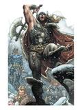 Thor: For Asgard No.1: Thor Smashing Prints by Simone Bianchi
