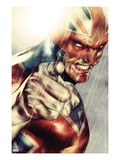 Iron Age 1: Captain Britain Posing Prints by Lee Weeks
