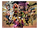 Uncanny X-Men 544: Dark Phoenix, White Queen, Apocalypse, Sentinel, Magneto, Storm, Wolverine Art par Greg Land