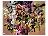 Uncanny X-Men No.544: Dark Phoenix, White Queen, Apocalypse, Sentinel, Magneto, Storm, Wolverine Art par Greg Land