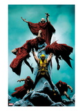 Wolverine No.10 Cover: Wolverine Standing and Lifting Another Poster by Jae Lee