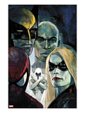 Moon Knight 6 Cover: Ms. Marvel, Spider-Man, War Machine, Moon Knight, Luke Cage, and Wolverine Prints by Alex Maleev