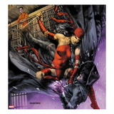Heroes For Hire 10 Cover: Elektra and Shroud Posters by Jay Anacleto