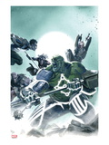 Fear Itself: Hulk vs. Dracula 2 Cover: Hulk Fighting and Screaming Prints by Gabriele DellOtto