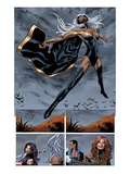 Uncanny X-Men No.5: Panels with Storm Flying Prints by Greg Land