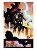 Chaos War No.1: Thor Floating Poster by Khoi Pham