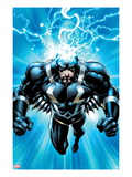 FF 6 Cover: Black Bolt Jumping Prints by Mark Bagley
