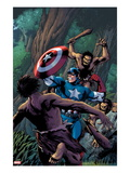 Marvel Adventures Super Heroes 15 Cover: Captain America Fighting with his Shield Prints by Barry Kitson