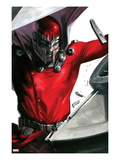 Vengeance 1 Cover: Magneto Smashing Poster by Gabriele DellOtto