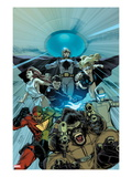 Atlas 5 Cover: Gorilla-Man, 3-D Man, Venus, Jimmy Woo, Namora, and The Uranian Flying Posters by Carlo Pagulayan