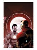 Invincible Iron Man No.503 Cover: Iron Man and Tony Stark Posters by Salvador Larroca