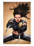 X-23 No.4 Cover: X-23 Posing Prints by Leinil Francis Yu