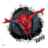 Spider-Man Badge: Black Web, Dots, and Panels, Spider-Man Jumping Posters