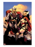 The Mighty Thor No.2: Sif and Thor Prints by Olivier Coipel