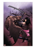 Uncanny X-Men No.5 Cover: Psylocke Fighting Print by Greg Land