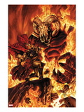 Thor No.613 Cover: Thor Fighting in Flames Poster by Mico Suayan
