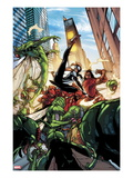 Spider-Island: The Amazing Spider-Girl No.3: Spider-Girl Fighting and Kicking Prints by Pepe Larraz