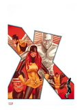 Uncanny X-Men 544 Cover: Marvel Girl, Iceman, Cyclops, Beast, and Angel Posters par Greg Land