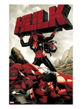 Hulk No.47 Cover: Red She-Hulk and Red Hulk Poster by Carlo Pagulayan