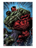 Hulk No.24: Hulk and Rulk Fighting Print by Ed McGuinness