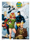 X-Men No.1: 20th Anniversary Edition: Marvel Girl, Cyclops, Professor X, Beast, Angel, and Iceman Posters by Jim Lee