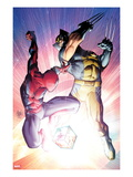 Astonishing Spider-Man & Wolverine 3 Cover: Spider-Man and Wolverine Fighting Print by Adam Kubert