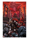 Thor 614 Cover: Thor and Mephisto Fighting Print by Mico Suayan