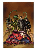 New Avengers No.19 Cover: Spider-Man, Norman Osborn, Viper, Superia Posters by Mike Deodato Jr.