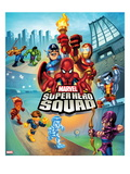 Marvel Super Hero Squad: Captain America, Thing, Hulk, Human Torch, Iceman, and Hawkeye Running Prints