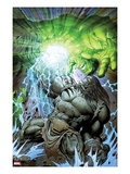 Incredible Hulk No.611 Cover: Skaar and Hulk Fighting and Smashing Prints by Paul Pelletier