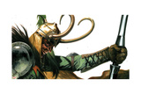 Vengeance 4 Cover: Loki Posing Art by Gabriele DellOtto