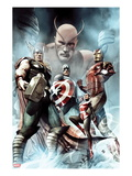 Captain America: Hail Hydra No.2 Cover: Thor, Iron Man, Captain America, and Wasp Poster par Adi Granov