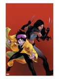 X-23 No.20 Cover: Jubilee and X-23 Posters by Kalman Andrasofszky