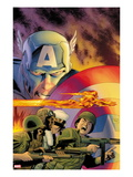 Captain America: Forever Allies 1 Cover: Captain America and Human Torch Prints by Lee Weeks