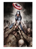Captain America: Hail Hydra No.4 Cover: Captain America with His Shield Posters by Adi Granov