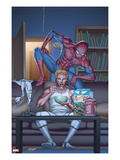 FF No.17 Cover: Johnny Storm and Spider-Man Posters by Mike Choi
