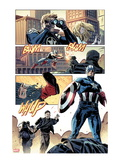 Captain America No.615: Panels with Captain America Posters by Mitchell Breitweiser
