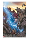 Thor: The Rage of Thor 1 Cover: Thor Fighting and Screaming, and Lightning Posters by Mico Suayan