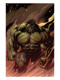 Hulk No.24: Hulk Walking Poster von Ed McGuinness
