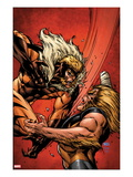 X-Men Forever 2 7 Cover: Sabretooth Fighting Prints by Tom Grummett