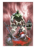 Fear Itself: Hulk vs. Dracula 3 Cover: Hulk Standing Over a Fallen Dracula Prints by Gabriele DellOtto
