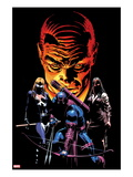 What If Dark Reign No.1 Cover: Mockingbird, Hawkeye, and Norman Osborn Posing Prints by Mike Deodato Jr.