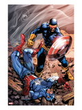 X-Men Forever 2 15 Cover: Cyclops and Captain America Prints by Tom Grummett