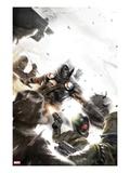 Taskmaster No.2 Cover: Task Master Fighting Posters by Francesco Mattina