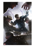 Captain America No.618 Cover: Winter Soldier Fighting Posters by Marko Djurdjevic