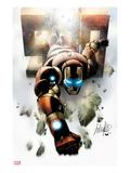 Invincible Iron Man No.500 Cover: Iron Man Flying Prints by Salvador Larroca