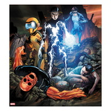 Avengers Academy 18 Cover: Striker, Mettle, Finesse, Hazmat, Veil, Warlock, and Reptil Art by Billy Tan