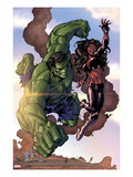 Incredible Hulks No.635: Hulk and Red She-Hulk Prints by Tom Grummett