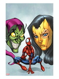 Marvel Adventures Spider-Man 18 Cover: Spider-Man, Madame Masque, and Green Goblin Print by Ale Garza