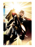 The Mighty Thor No.3: Thor Walking Print by Olivier Coipel